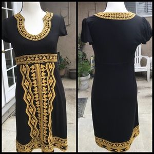 Nice Black with Gold embroidery dress